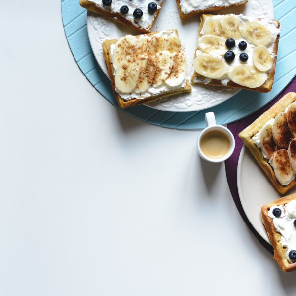 banana-and-bluberries-waffles-with-coffee-espresso